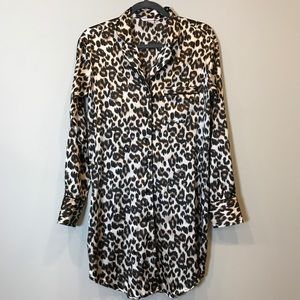 Victoria's Secret Satin Leopard Print Nightshirt